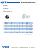 pressure plugs - steel