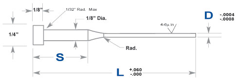 Nitrided Ejector Pins - Step