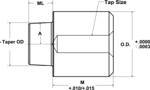 Round Tapered Interlocks - Male